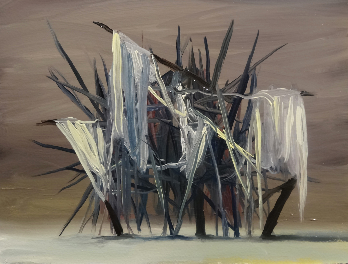 Máquina del Hueso, óleo sobre papel, 33 x 24 cm.