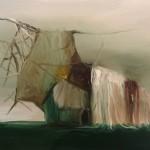 Casa del sueño. Óleo sobre papel, 41 x 31 cm.