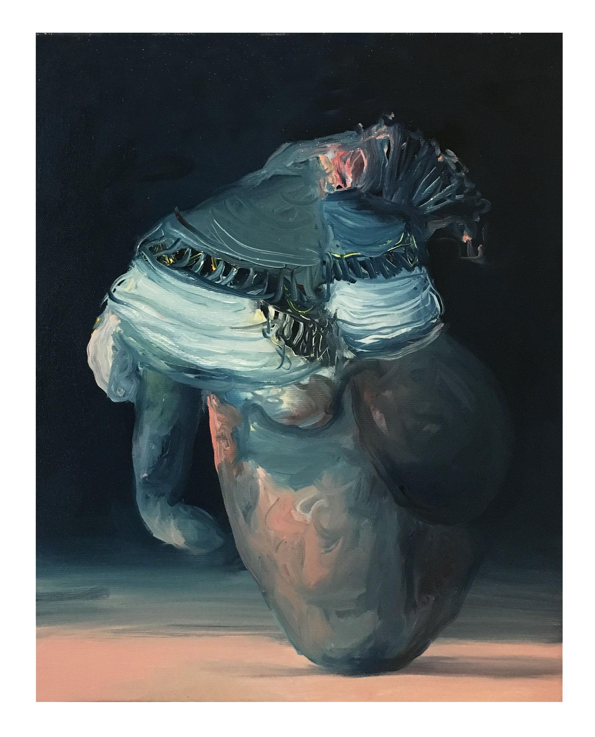Óleo sobre lienzo, 41 x 33 cm.